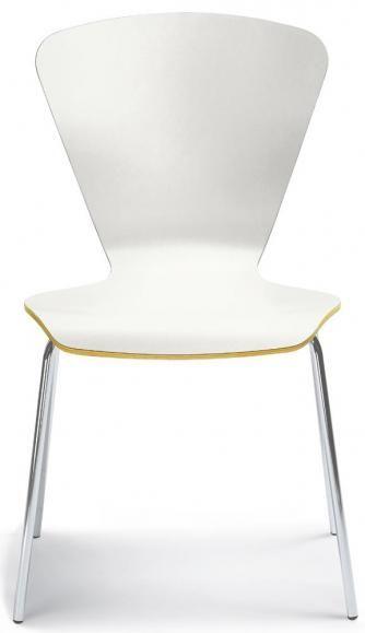 Stuhl TRIAS in der Farbe Weiß