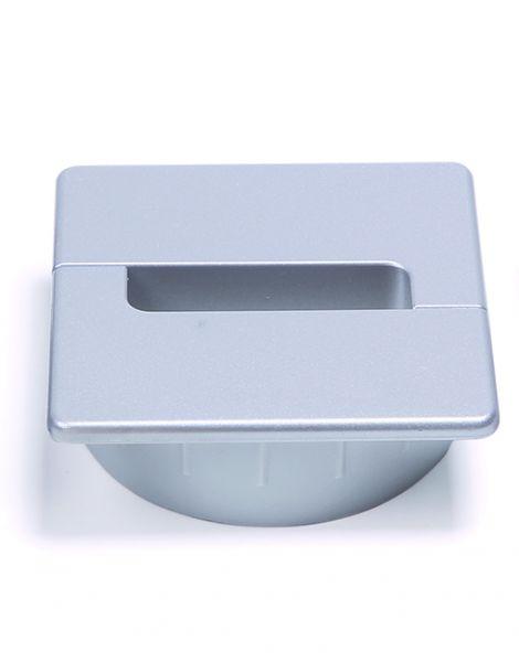 Kabeldurchlass für Sitz-Stehtisch eModel, Abbildung Farbe aluminiumfarbig, weitere Farben: weiß, schwarz
