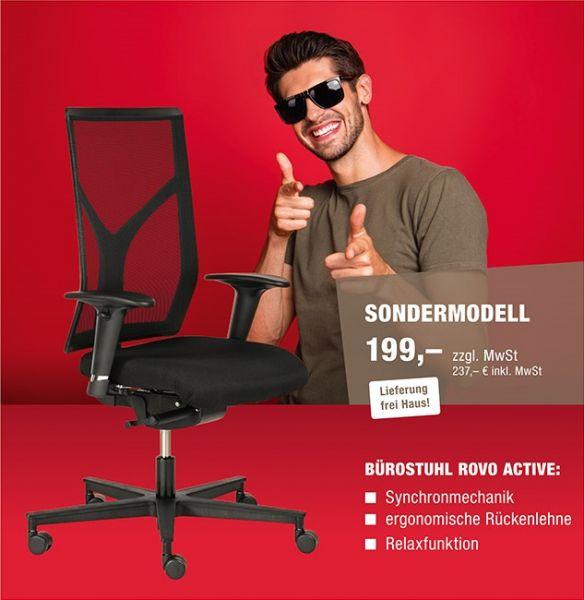 Netto 199,00€ Sondermodell Drehstuhl ROVO ACTIVE R16 1430 S3 mit Netzrücken Schiebesitz Aktionsmodell