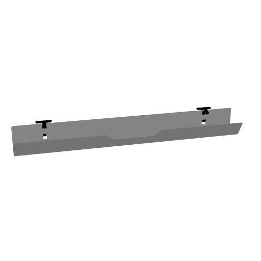 Kabelkanal aluminiumfarbig klappbar für eModel Plattenbreite 120 cm