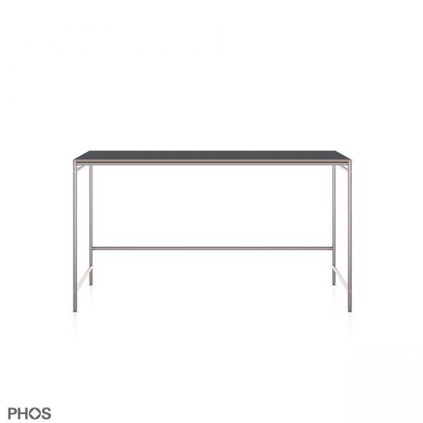 PHOS Karlsruher Tisch 140x60 cm Linoleum Anthrazit