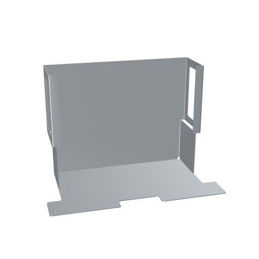 ClickShare Funktionswanne für Monitor caddy, weißaluminium 119