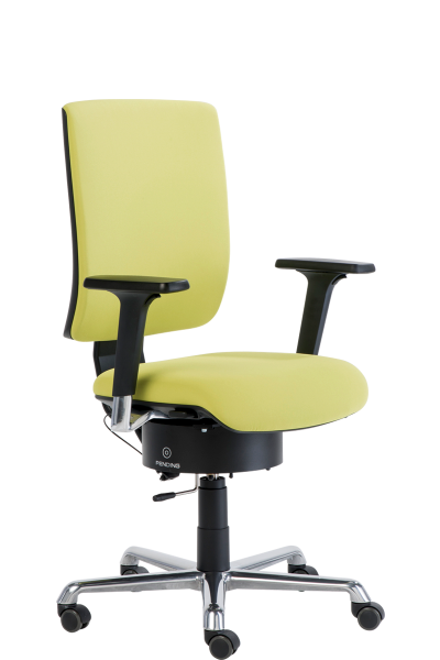 Drehstuhl Tailwind 2 mit Pending Sitzsystem, 2D-Armlehnen, Fußkreuz poliert