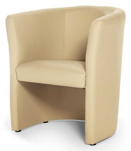 Club-Sessel in Kunstleder Beige