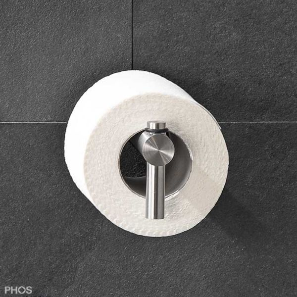 PHOS Toilettenpapierhalter mit Hutrosette