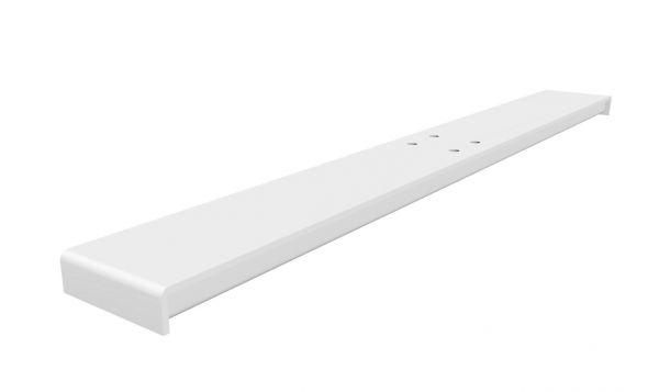 Fußausleger B für Sitz-Stehtisch eModel, Abbildung Farbe weiß, weitere Farben: aluminiumfarbig, schwarz